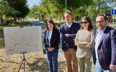 Carlos García Carbayo plantea conectar los barrios Garrido y Puente Ladrillo con sendas peatonales y un carril bici