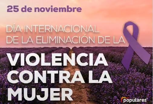Manifiesto del Partido Popular Día Internacional de la Eliminación de la Violencia contra la Mujer